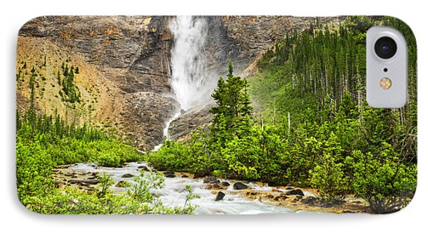 Takakkaw Falls Waterfall In Yoho National Park Canada Phone Case by Elena Elisseeva