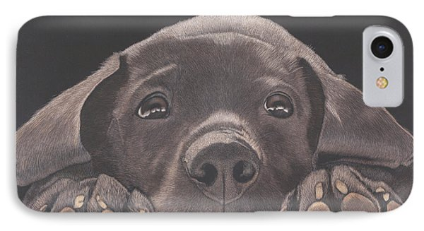 Take Me Home - Chocolate Lab Puppy IPhone Case