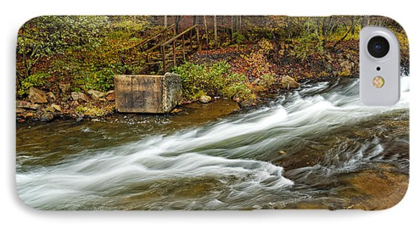 Take Me To The Other Side Beaver's Bend Broken Bow Lake Flowing River Fall Foliage IPhone Case by Silvio Ligutti