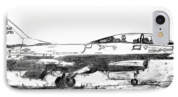 Take Off F-16 IPhone Case by Theresa Hudson
