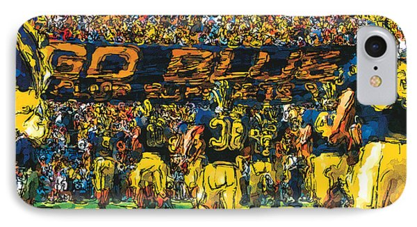 University Of Michigan iPhone 7 Case - Take The Field by John Farr
