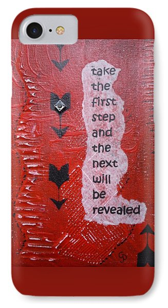 Take The First Step Phone Case by Gillian Pearce
