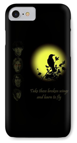 Take These Broken Wings And Learn To Fly IPhone Case by David Dehner