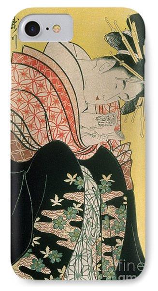 Takigawa From The Tea House Ogi IPhone Case by Kitagawa Otamaro