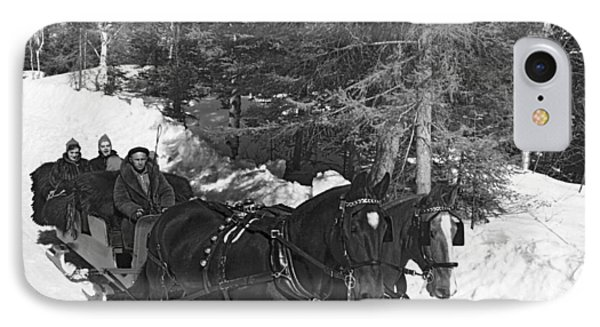 Taking A Sleigh Ride In Canada IPhone Case