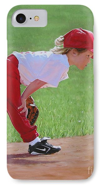 Taking An Infield Position Phone Case by Emily Land