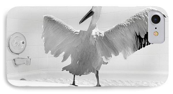 Taking The Plunge - Pelican - Bathroom IPhone Case by Nikolyn McDonald