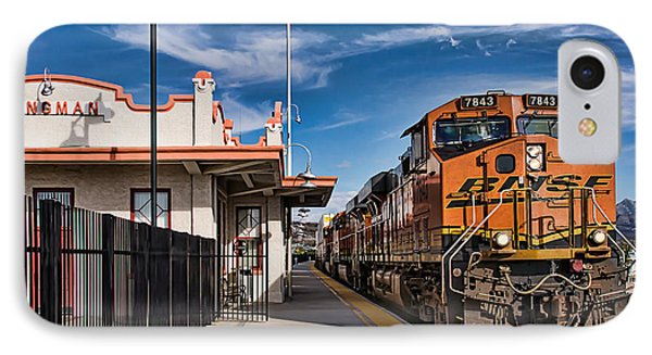Taking The Train At The Kingman Station IPhone Case by Priscilla Burgers