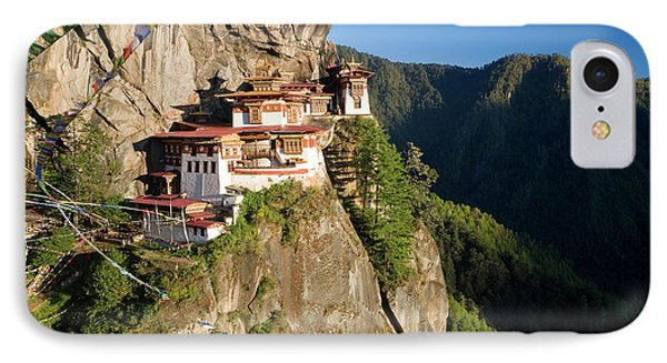 Taktsang Dzong (monastery IPhone Case by Peter Adams