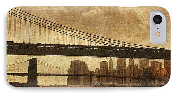 Tale Of Two Bridges IPhone Case by Joann Vitali