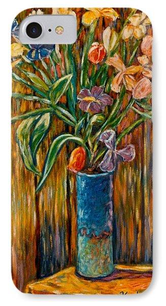 Tall Blue Vase Phone Case by Kendall Kessler