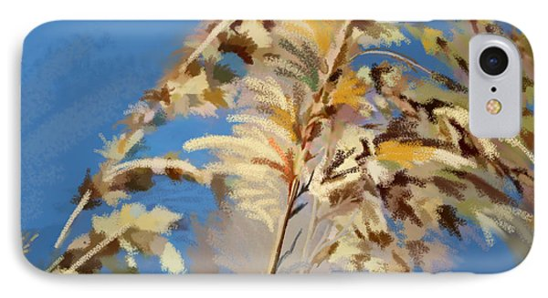 IPhone Case featuring the digital art Tall Grass Mix by Anthony Fishburne