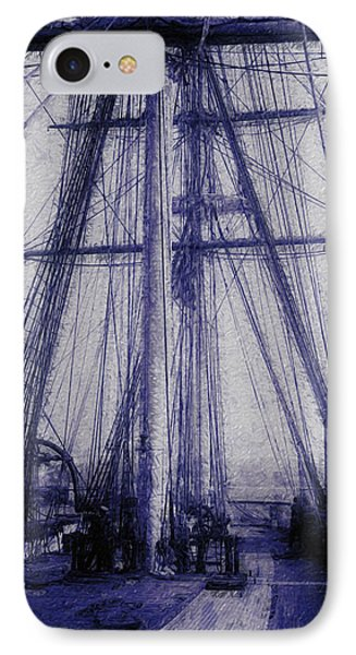 Tall Ship 2 IPhone Case by Jack Zulli