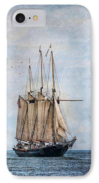 Tall Ship Denis Sullivan Phone Case by Dale Kincaid