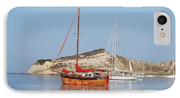 Tall Ship IPhone Case by George Katechis