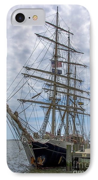 IPhone Case featuring the photograph Tall Ship Gunilla Vertical by Dale Powell