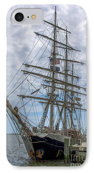 Tall Ship Gunilla Vertical IPhone Case by Dale Powell