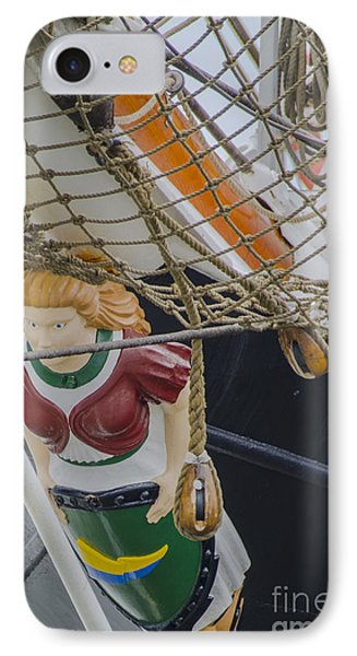 IPhone Case featuring the photograph Tall Ship Gunilla Masthead by Dale Powell
