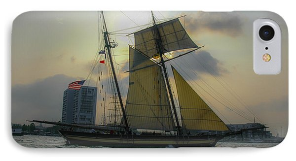 Tall Ship In Charleston IPhone Case by Dale Powell