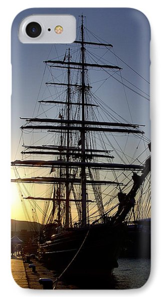 Tall Ship In Ibiza Town IPhone Case