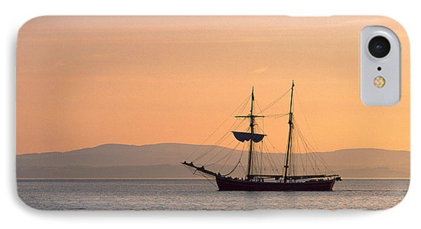 Tall Ship In The Baie De Douarnenez IPhone Case by Panoramic Images
