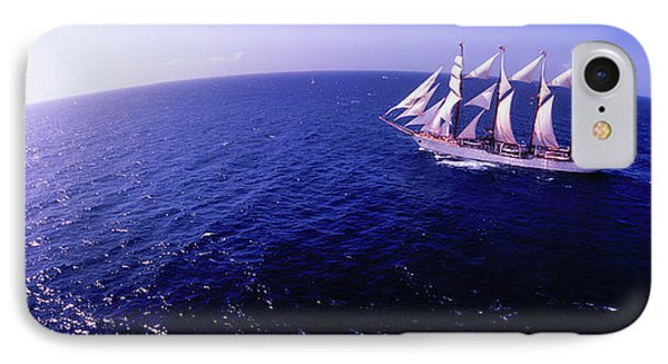 Tall Ship In The Sea, Puerto Rico, Usa IPhone Case