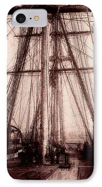 Tall Ship IPhone Case by Jack Zulli