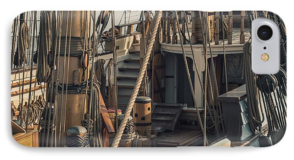 Tall Ship Kalmar Nyckel Ropes Phone Case by Dapixara Art