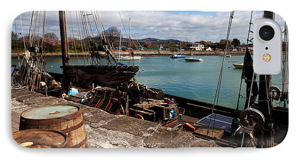 Tall Ship Keeywaydin , Dungarvan IPhone Case by Panoramic Images