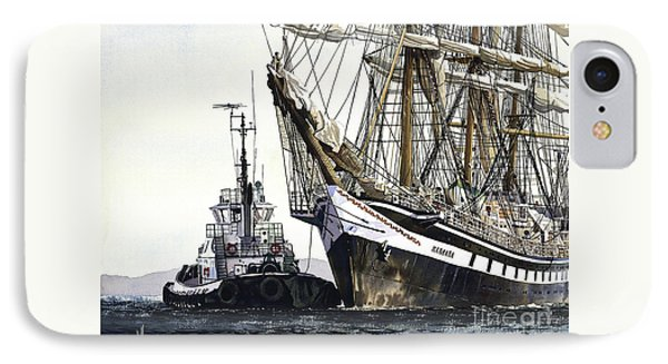 Tall Ship Pallada IPhone Case by James Williamson