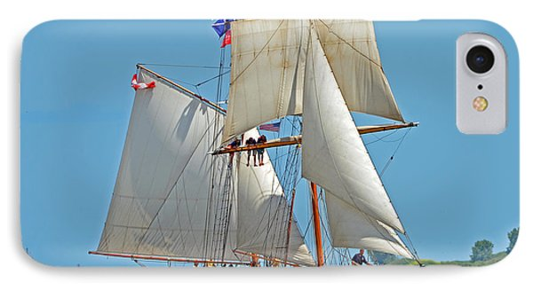 IPhone Case featuring the photograph Tall Ship Pathfinder by Rodney Campbell