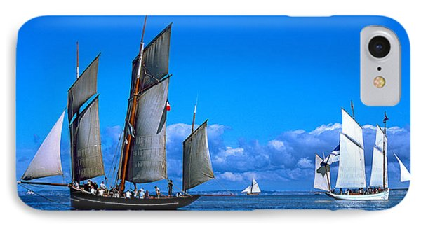 Tall Ship Regatta Featuring Cancalaise IPhone Case by Panoramic Images