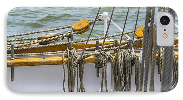 IPhone Case featuring the photograph Tall Ship Rigging by Dale Powell