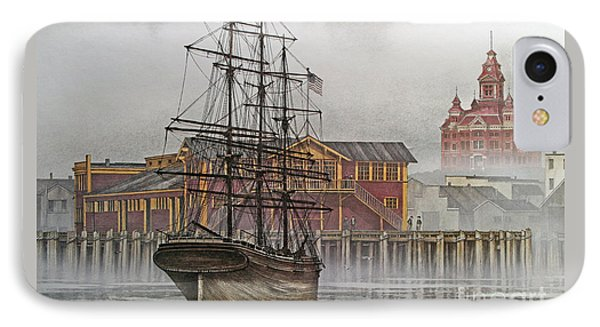 Tall Ship Waterfront IPhone Case by James Williamson