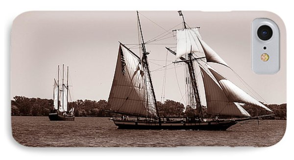 Tall Ships 3 IPhone Case by Andrew Fare