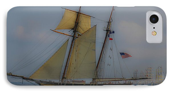 Tall Ships In The Lowcountry IPhone Case by Dale Powell