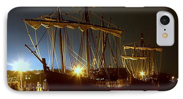 Tall Ships IPhone Case by Debra Forand