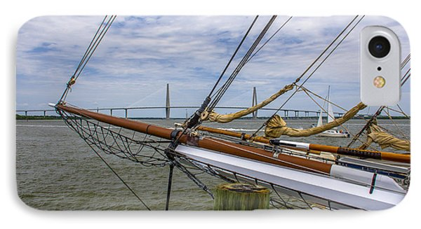 IPhone Case featuring the photograph Tall Ships In Charleston by Dale Powell