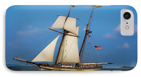 IPhone Case featuring the digital art Tall Ships Over Charleston by Dale Powell