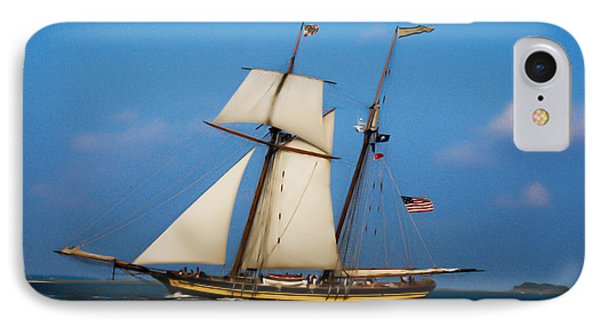 Tall Ships Over Charleston IPhone Case by Dale Powell
