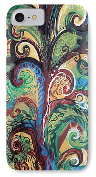 Tall Tree Winding IPhone Case by Genevieve Esson