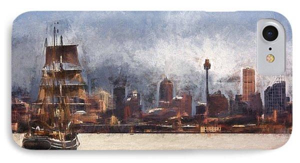 Tallship On Sydney Harbour IPhone Case by Avalon Fine Art Photography