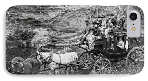 Tallyho Stagecoach Party C. 1889 Phone Case by Daniel Hagerman
