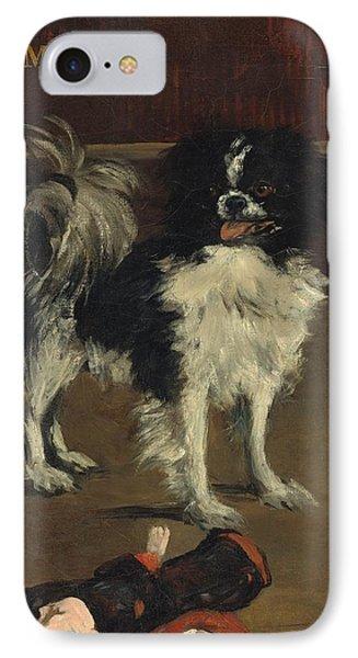 Tama - The Japanese Dog IPhone Case by Edouard Manet