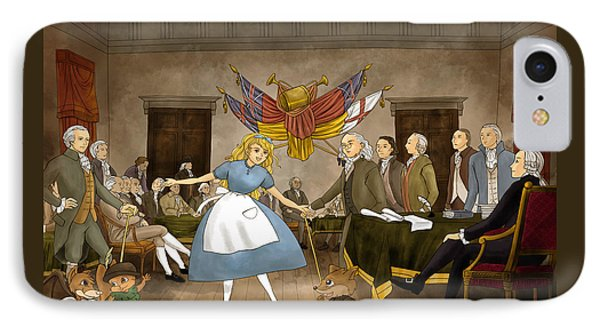 IPhone Case featuring the painting Tammy In Independence Hall by Reynold Jay
