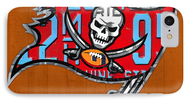 Tampa Bay Buccaneers Football Team Retro Logo Florida License Plate Art IPhone Case by Design Turnpike
