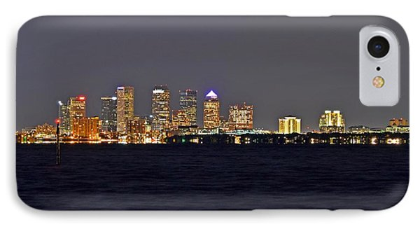 IPhone Case featuring the photograph Tampa City Skyline At Night 7 November 2012 by Jeff at JSJ Photography
