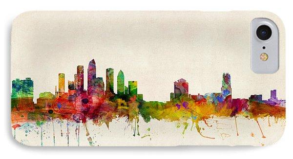 Tampa Florida Skyline IPhone Case by Michael Tompsett
