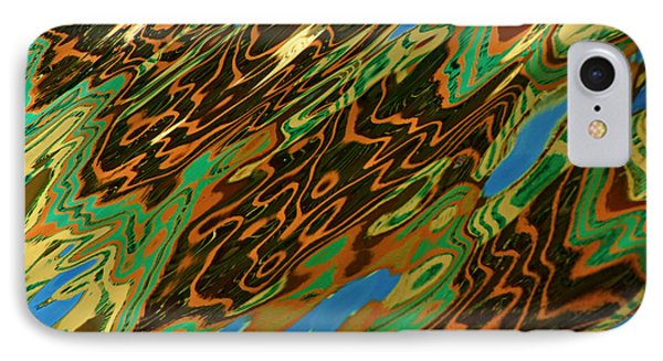 Tampa Reflection Abstract IIi IPhone Case by Daniel Woodrum