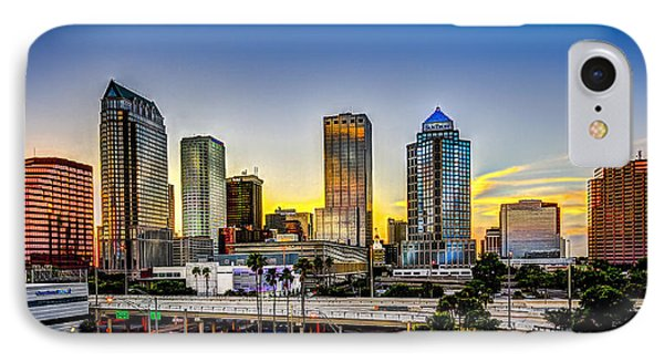 Tampa Skyline IPhone Case by Marvin Spates